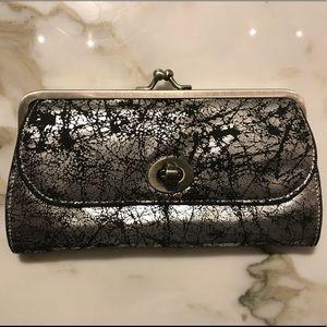 Handbags - Cracked metallic silver design clutch wallet
